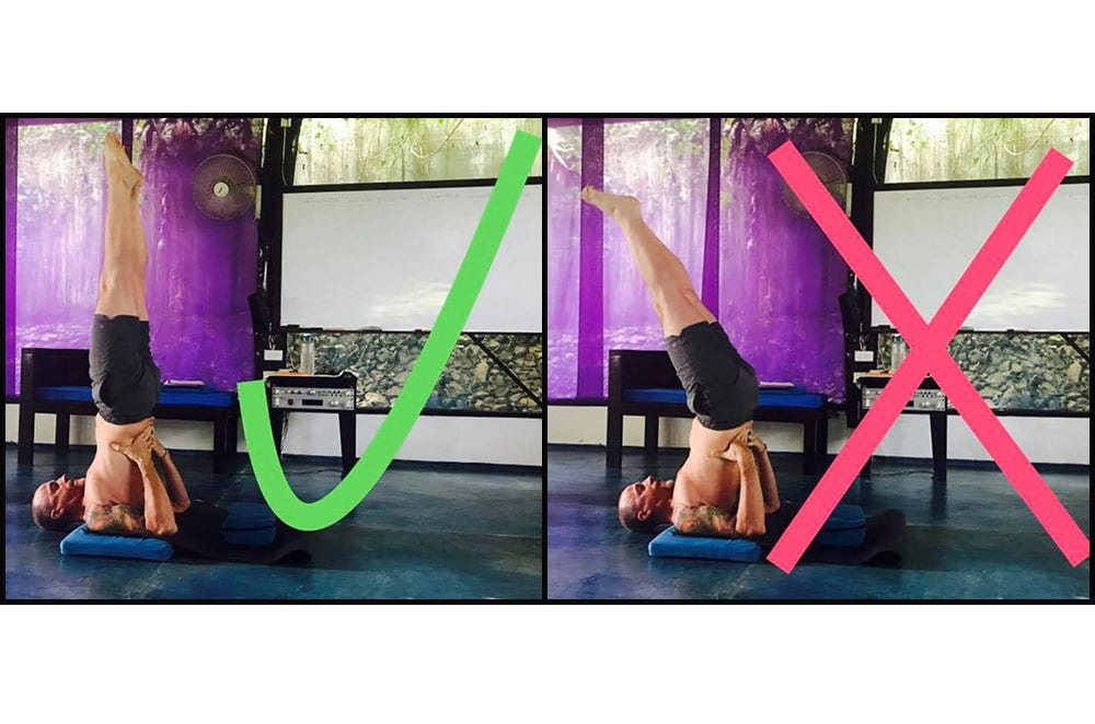 Asana Clinic Shoulderstand